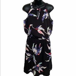 NWT Reitman's black floral halter sleeveless dress